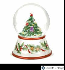 spode tree musical snow globe