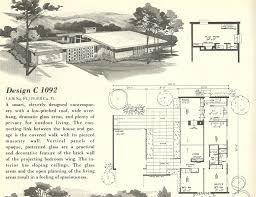 unique mid century modern home floor plans small mid century