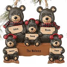 family 5 names personalized ornament ornament bears