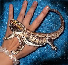epic bearded lizard iron on patch like applique