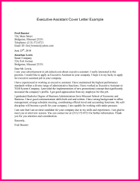 executive assistant cover letter examples unique cover letter for