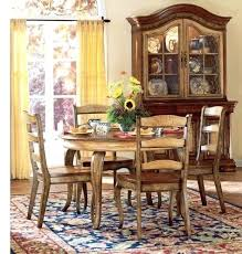 french country dining room table decor upholstered chairs