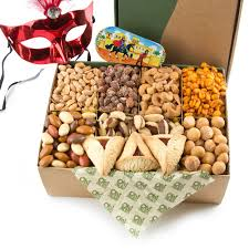 oh nuts purim baskets purim gourmet variety nut gift box the nut filled purim