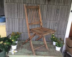 Vintage Wooden Chair Vintage Chair Etsy