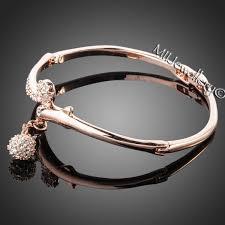 rose bangle bracelet images Mii jewellery 18k rose gold plated crystal bracelet jpg