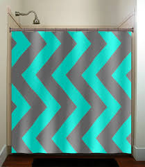 Turquoise And Grey Curtains Aqua Blue Gray Vertical Chevron Turquoise Shower Curtain