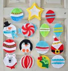 diy felt christmas tree ornament felting and craft