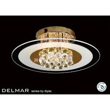 Asfour Crystal Chandelier Prices Diyas Il32021 Delmar Asfour Crystal Round Ceiling Light Gold
