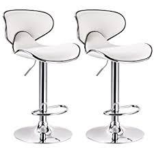 amazon com woltu contemporary white bar stools adjustable