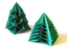 origami poesie di carta bialbero di natale multialbero