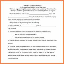 separation agreement template ne0222 separation and general