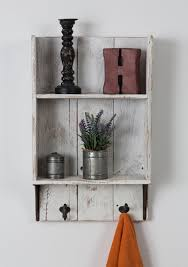 White Bathroom Shelf With Hooks by Reclaimed Wood Bathroom Shelf Wood Bathroom We And Shelves