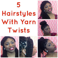 hairstyles for yarn braids how to 5 hairstyles for yarn twists or yarn braids youtube