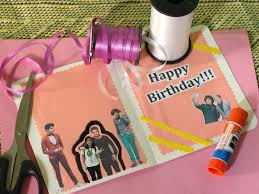 create a birthday card how to make a birthday card for a one direction fan 7 steps