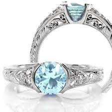 aquamarine and diamond ring aquamarine engagement rings jewelers