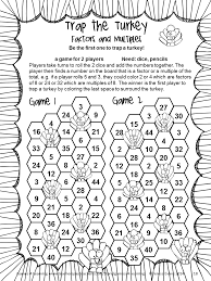 thanksgiving math fourth grade activities worksheet