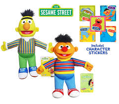 amazon com set of 2 playskool sesame street bert and ernie toys
