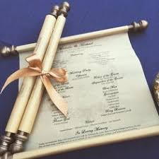 scroll wedding programs scroll wedding programs by dreammakersinvites on etsy dany