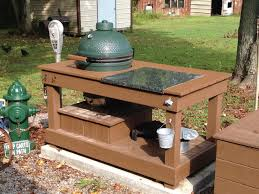 outdoor kitchen with green egg and big creative ideas images