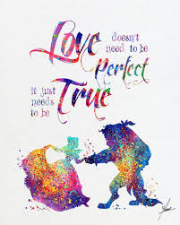 beauty beast watercolor print disney fine art print kids