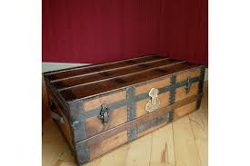 steamer trunk side table vintage steamer trunk coffee table storage chest rustic wooden