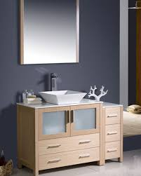 Bathroom Vanity With Side Cabinet Fresca Torino 48 Light Oak Modern Bathroom Vanity W Side Cabinet