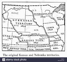 Ne Map Kansas Nebraska Map 1854 Ndetail Of A Map Of The United States