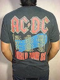 Baju Ac Dc stimulus bundle vintage baju band acdc tour concert 1988 shirt sold