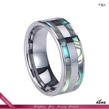 8mm ring size black grey men ring size 8mm abalone stripe inlaid tungsten