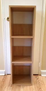 Narrow Bookcase Espresso by 3 Shelf Narrow Bookshelf In Espresso Formaldehyde Free Way Basics