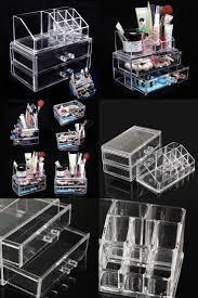 makeup storage wood makeup organizer storage acrylic kardashian