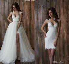 two wedding dress discount berta 2016 two in one wedding dresses vintage lace