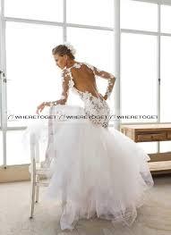 mermaid wedding dresses long sleeve backless wedding dresses