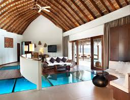 House Over Water The Exotic W Retreat U0026 Spa Maldives Glass Floor Overwater Bungalow