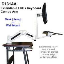 monitor and keyboard arm desk mount d131aa articulated monitor keyboard wall or table arm