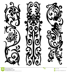 pattern silhouette black design ornament motifs illustration