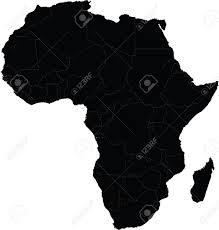 map of africa vector with country borders royalty free cliparts