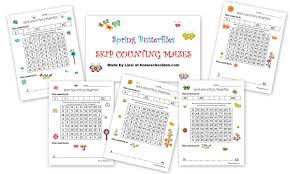 spring skip counting mazes u2013 2s 3s 4s 5s 10s free homeschool den