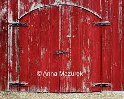 red barn door barn and patio doors