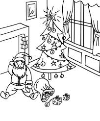 fall down santa coloring pages for kids printable christmas