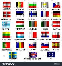 Irish Flag Vs Italian Flag Eu Members State Small Flags Wind Stock Illustration 43913533