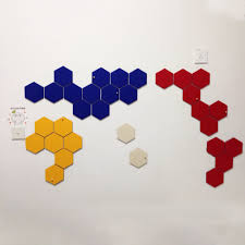 compare prices on felt wall decor online shopping buy low price yazi wall decoration diy creative wall sticker felt colorful hexagon decorative mural decals home cafe shop