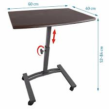 tatkraft salute high quality mobile laptop desk adjustable height