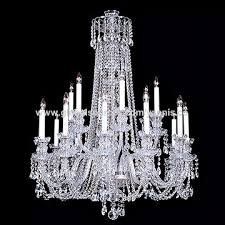 Glass Chain Chandelier Long Silver Chain Glass Gold Color European Baccarat Chandelier
