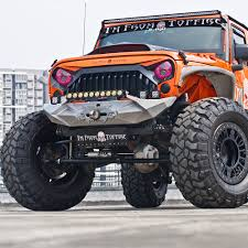 racing jeep wrangler beast series front bumper w winch for 07 u0027 17 u0027 jeep wrangler