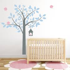 Vinyl Tree Wall Decals For Nursery by Four Bird Tree Wall Decal