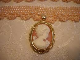 cameo necklace images Handmade pink cameo pearl choker necklace set by sarahsangell jpg