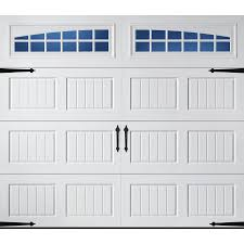 shop pella carriage house 96 in x 84 in insulated white single