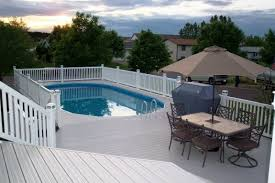 above ground pool deck stairs home design ideas and pictures