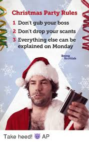 Christmas Party Meme - christmas party rules 1 don t gub your boss 2 don t drop your